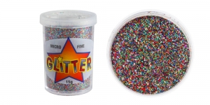 Glitter Powder Micro Fine Glitter, 15g, multicolor, Trimits UF19