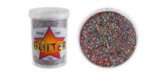 Litripuuder Micro Fine Glitter puistetopsikus, 15g, mitmevärviline, Trimits UF19