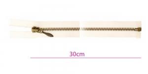 2710OX, Alt avatav 4mm hammastikuga metall-tõmblukk pikkusega 30cm, naturaalvalge, oksüdeeritud pronkshammastikuga, Opti
