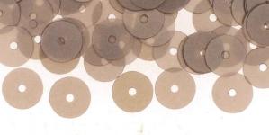 YB50 / Lamedad kettakujulised plastlitrid , läbikumavad hallikasbeezid/ ø8mm