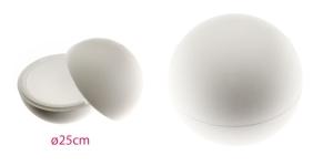 2-poolne avatav penoplastist e. stüroksist pall ø25cm, KL1344