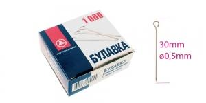 Aaspea-nööpnõelad; BULAVKA suur karp 1000tk, 30 × ø0,5mm