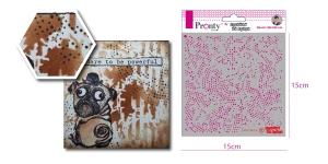Šabloon, trafarett värvimiseks 15 cm x 15 cm, Pronty 470.770.014