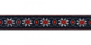 Lilleõitega dekoratiivpael, laiusega 26 mm, värv 5, Art. 4070L