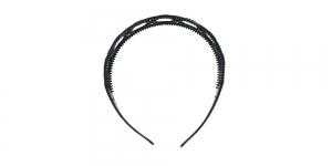Plastikust peavõru toorik must, 13,5 x 12cm ja 15 x 5mm, EK108