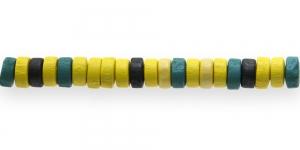 IM24 8x4mm Värvisegu lakitud rõngakujuline puithelmes ca. 50tk kmpl