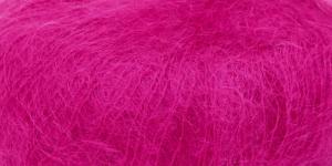 Ülipeen siidisisaldusega mohäärlõng Kidsilk Haze, Rowan, värv 606, erk tumeroosa