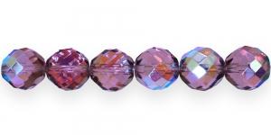 Ümar tahuline klaaspärl, Tšehhi, 16mm, Helelilla AB läikega, LI3