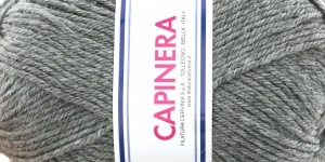 Poolvillane lõng Capinera; Värv 602 (Säbruline hall), Capinera Wool Yarn; Colour 602 (Mottled Grey), Lane Cervinia