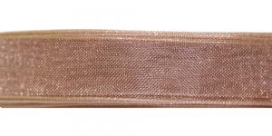 724 Pähklipruun organza pael 10mm-12mm