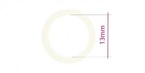 UA13, Plastrõngas nn. rinnahoidja rõngas, ø13mm, naturaalvalge