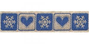 Südame- ja lumehelbemustriga kaunistuspael 30mm, Art.226-PG, värv nr.5