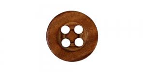 Pähklipruun puitnööp, 15mm, 24L, SB339 222