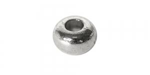 Hõbedane, kaarja vormiga rõngas, 6,5 x 4mm, EF1A