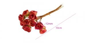 Paberlillede kimp, roosid, 12 õit, õis ø12 mm, lõheroosa, B1971PE