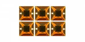 WH40 12mm Hele oranžikaspruunid õmmeldavad kristallid, 6tk