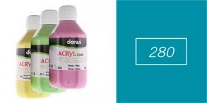 Akrüülvärv, läbipaistmatu, 250ml, Darwi Acryl Opaque, TURQUOISE 280