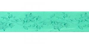 Jacquard satin ribbon, Art.38968, color No. Green