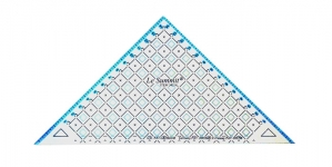 Triangle Plastic Clear View Ruler 15cm, Le Summit 34214