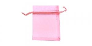Heleroosa läbipaistev kinkekott, 9 x 7cm, PA34