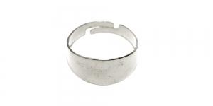 Sõrmusetoorik Hõbedane / Silver Smooth Finger Ring Base / 18 x 9mm / EA104