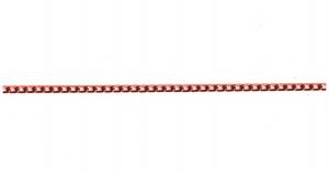 Punane alumiiniumkett, 6 x 3,5 x 1 mm, MA3