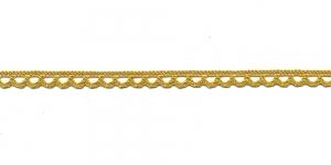 Puuvillane pits 3174-62 laiusega 0,8 cm, värv rohekaskollane