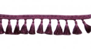 Soliidne kaunistuspael tuttidega, üldlaiusega 12cm, värv tume punakaslilla