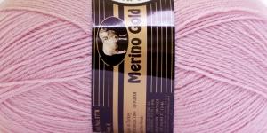 Villasisaldusega lõng Merino Gold, Madame Tricote, värv nr. 1, hele vanaroosa