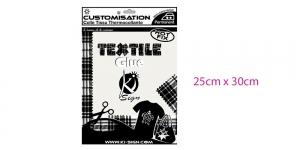 Kahepoolne kilejas liimmaterjal, tekstiililiim 25x30cm, Ki-Sign Textile Glue