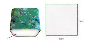 Lambivarju valgushajutid, ümarnukne ruut 30 cm x 30 cm
