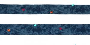 Tumesinise-, valgetriibuline trikookangas 150cm, 8729/892