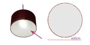 Lambivarju valgushajuti, ümmargune ø30 cm