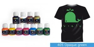 Kattev värv kanga värvimiseks pintsli, tampooni jms abil, Fabric Paint Opaque, 50 ml, Vielo, Värv: roheline, #405 Opaque green