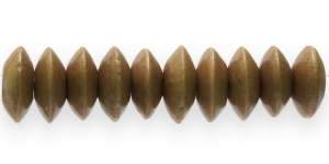 Helepruun lapik ümara vormiga puithelmes, 13 x 6 mm, IM38