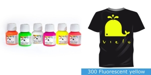 Fluoresseeruv kangavärv Fabric Paint Fluorescent, 50 ml, Vielo, Värv: kollane, #300 Fluorescent yellow