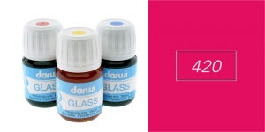 Klaasivärv Darwi Glass, 30ml, CARMINE 420
