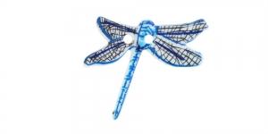 Kiilikujuline, sinisekirju, kahe auguga plastiknööp 23x20mm, SDD18