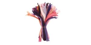 Peitlukud 20 cm, pakkumiskomplekt, 50 tk, roosad-lillad, #4