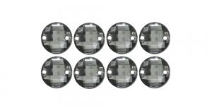 10mm Tumehall, läbipaistev ümar tahuline õmmeldav dekoratiivkivi 8tk WR63