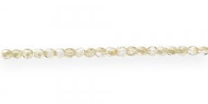 LA9 Ümar tahuline klaaspärl, Tšehhi, 3mm, Kuldne läbipaistev