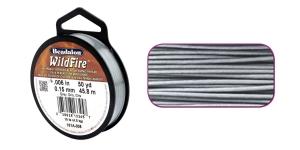 Termiliselt töödeldud tugev niit WildFire ø0,15 mm; 45,8 m, värv: hall, Beadalon 161A-008