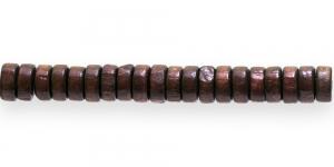 IM20 8x4mm Punakaspruun lakitud rõngakujuline puithelmes ca. 50tk kmpl