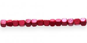 IM50 6x6mm Punane kuubikukujuline puithelmes