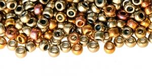 6-L-721 Värvisegu, metallik, läbipaistmatud terahelmed TOHO, suurus: 6/0, värv: 721