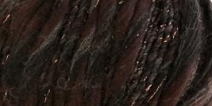 Metallikuga efektilõng Jamalia, Austermann, värv nr. 5, tumepruun mustaga