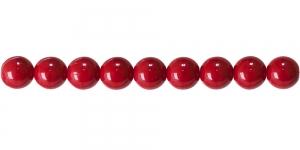 LN532 Ümar klaaspärl, Tšehhi, 10mm, Tumedam punane läbipaistmatu