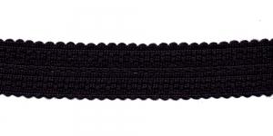 Kootud dekoratiivpael laiusega 3,5cm, värv: must