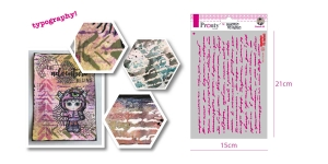 Šabloon, trafarett värvimiseks 15 cm x 21 cm, Pronty 470.770.001