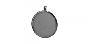Hematiit medaljonikujuline riputis, Hematite Circular Pendant Base, 21 x 2mm, EG31